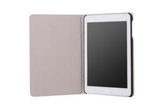 Realistic tablet pc computer with blank screen. Stock Image