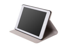 Realistic tablet pc computer with blank screen. Stock Images
