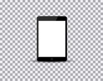Realistic tablet pc computer with blank screen on transparent background. Vector eps10 illustration. Royalty Free Stock Photos