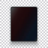A realistic tablet on a transparent background. Royalty Free Stock Photo