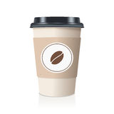 Realistic take away paper coffee cup. Vector illustration. Royalty Free Stock Image