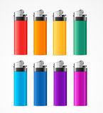 Realistic Template Blank Color Lighter Set. Vector Royalty Free Stock Photo