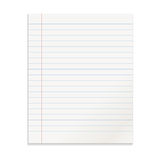Realistic template line notepad. Royalty Free Stock Photography