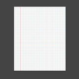 Realistic template notepad. Royalty Free Stock Photography