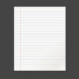 Realistic template notepad with spiral. Stock Images
