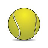 Realistic tennis ball with outline Royalty Free Stock Photography