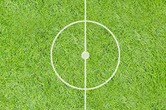 A realistic textured grass football / soccer field Royalty Free Stock Images