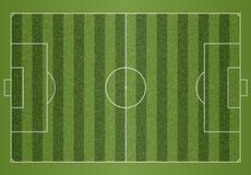 A realistic textured grass football soccer field. File contains transparencies. A realistic textured grass football soccer field vector illustration