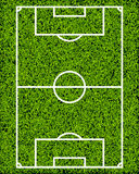 Realistic Textured Grass Soccer Field Royalty Free Stock Photos
