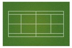 A realistic textured green grass tennis court vector illustration