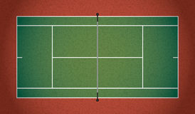 Realistic Textured Tennis Court Illustration. A textured realistic tennis court illustration. Vector EPS 10 available. EPS contains transparencies Royalty Free Stock Photos