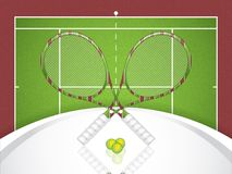 A realistic textured tennis field Stock Photography