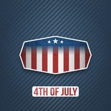 Realistic 4th of July Independence Day Banner Royalty Free Stock Photo
