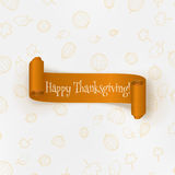 Realistic Thanksgiving curved paper Banner Royalty Free Stock Photo