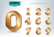 Realistic three dimensional number typeset  Stock Image