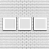 Realistic three poster frames mock up. Vector. royalty free illustration
