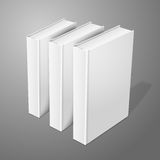 Realistic three standing white blank hardcover Royalty Free Stock Images