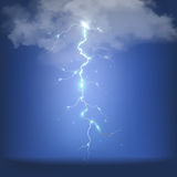 Realistic thunderstorm background. Vector illustration. Stock Image