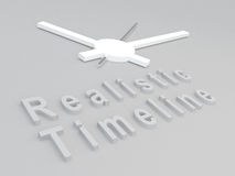 Realistic Timeline concept Stock Photo