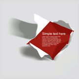 Realistic torn paper with space for text Royalty Free Stock Photo