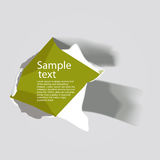 Realistic torn paper with space for text Royalty Free Stock Photography