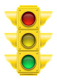 Realistic traffic light. Royalty Free Stock Photo