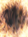 Realistic transparent fire flame banner. With transparency grid. Special effects. Vector illustration. Abstract background wuth transparency and translucent Stock Photography