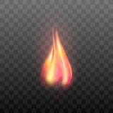 Realistic transparent flame effect. Royalty Free Stock Images