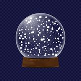 Realistic transparent snow globe Stock Photography