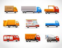 Realistic Truck Icons Royalty Free Stock Image