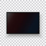 A realistic TV monitor on a transparent background. Royalty Free Stock Photography