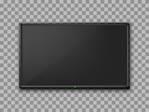 Realistic TV screen. Empty TV frame transparent background. Modern stylish lcd monitor, led type. Blank television template. – for stock vector stock illustration