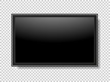Realistic TV Screen. Modern Stylish Lcd Panel, Led Type. Vector Royalty Free Stock Photo