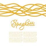 Realistic Twisted Spaghetti Pasta Stock Photography