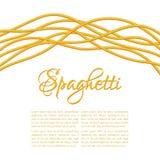 Realistic Twisted Spaghetti Pasta Stock Image