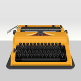 Realistic typewriter  on grey Royalty Free Stock Photography