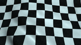 Realistic Ultra-HD checker flag waving in the wind