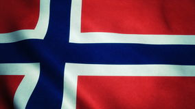 Realistic Ultra-HD flag of the Norway waving in the wind. Seamless loop with highly detailed fabric texture royalty free illustration