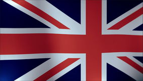 Realistic Ultra-HD flag of the United Kingdom waving in the wind. Seamless loop with highly detailed fabric texture. Loop ready in 4k resolution stock video footage