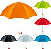 Realistic umbrellas Stock Images