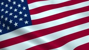 Realistic USA flag stock video footage