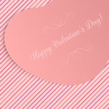 Realistic Valentines Day Big paper Heart Banner Royalty Free Stock Images