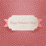 Realistic Valentines Day greeting paper Label Royalty Free Stock Photo