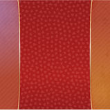 Realistic Valentines Day red and gold Banner Royalty Free Stock Photography