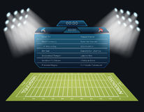 Realistic vector american football field with Stock Photos