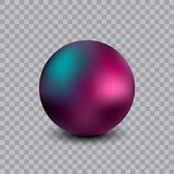 Realistic vector ball illustration. Isolated on transparent background Royalty Free Stock Photo