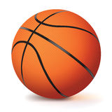 Realistic Vector Basketball Isolated on White. A vector basketball isolated on a white background. EPS 10. Gradient mesh used in dropshadow only. Dropshadow is vector illustration