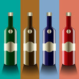 Realistic vector bottles. glass and reflection luxury style with Stock Photography