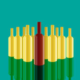 Realistic vector bottles with green background. Stock Photography