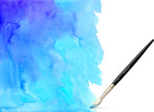 Realistic vector brush on watercolor background Royalty Free Stock Photo